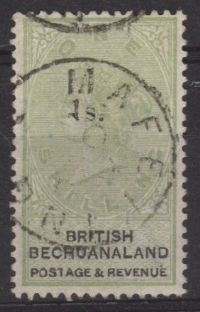 British Bechuanaland SG28 1888 Definitive 1/- on 1/- superb used
